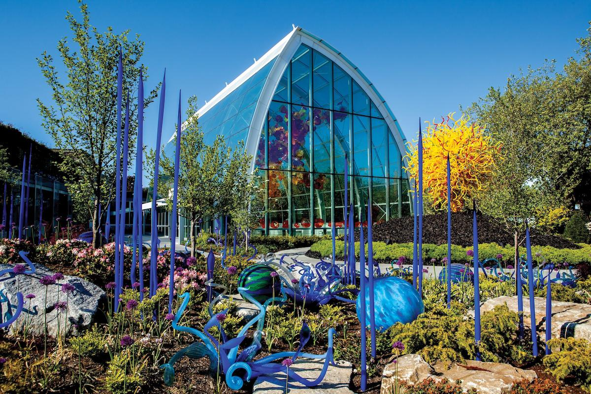 The Chihuly Garden and Glass exhibit. (Photo courtesy of Chihuly Garden and Glass)