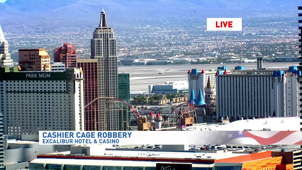 casino cage robbed at gunpoint on las vegas strip