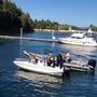 Two rescued after plane crash off Bainbridge; search on for third person