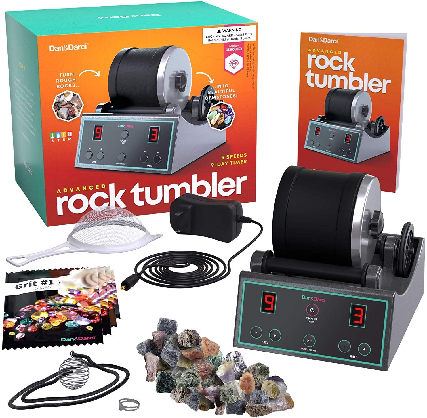 Rock Tumbler Kit{ }($99.99) Ready, set, tumble! Little naturalists will adore turning rough rocks into polished gems. It is a bit of a commitment - rocks tumble for 9 days - but we all have extra time right now, so why not? (Image: Amazon)