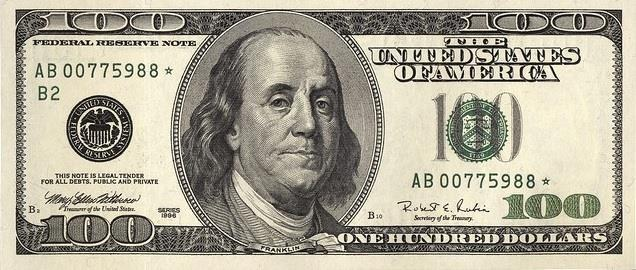 Partly in response to counterfeit 'supernotes,' the $100 bill was redesigned in 1996, which featured the 'large head' design that has since become standard, along with watermarks and color-shifting ink.