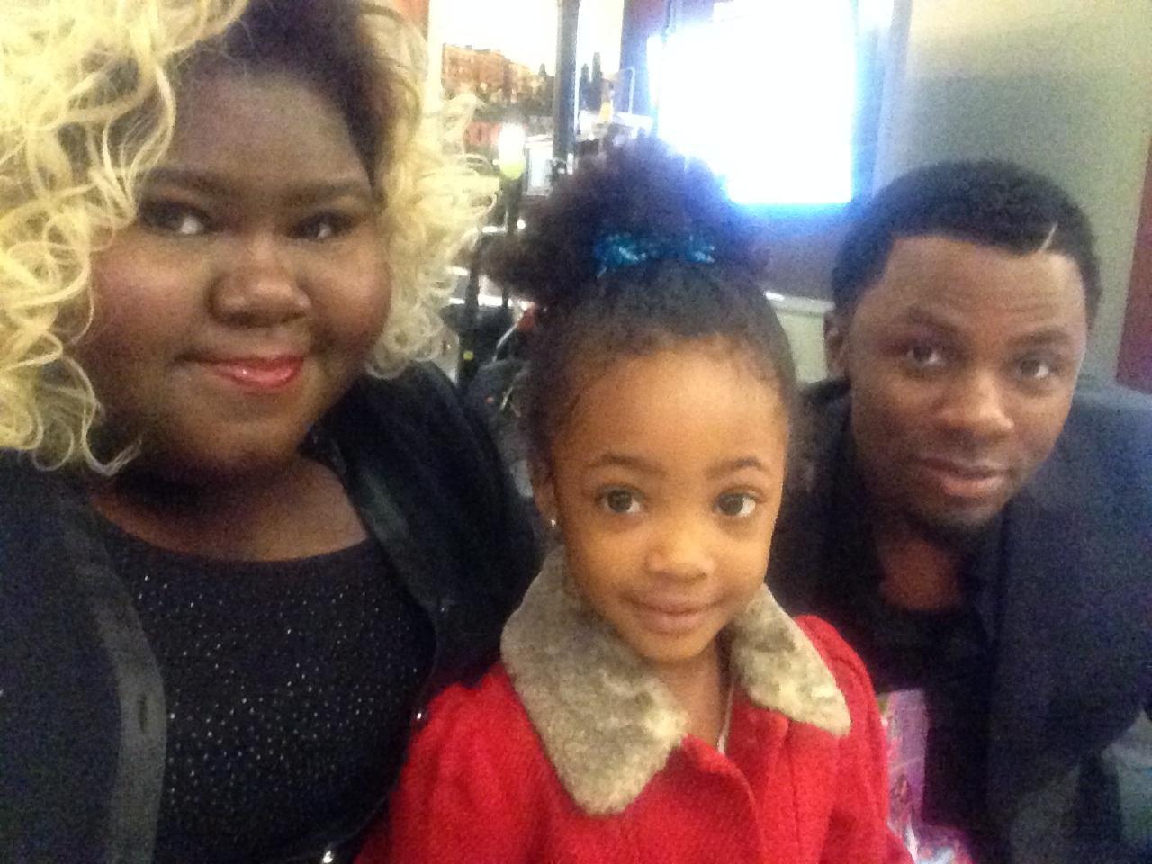 Leah Jeffires with actress, Gabby Sidibe who plays Becky on Empire, and  actor, Derek Luke who plays Malcolm on Empire.