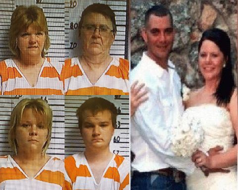 Photos of Westfall family courtesy of the Tyler County Jail. Photo of Nathan & Krystal Maddox taken from Facebook.
