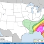 Moderate risk of severe weather today