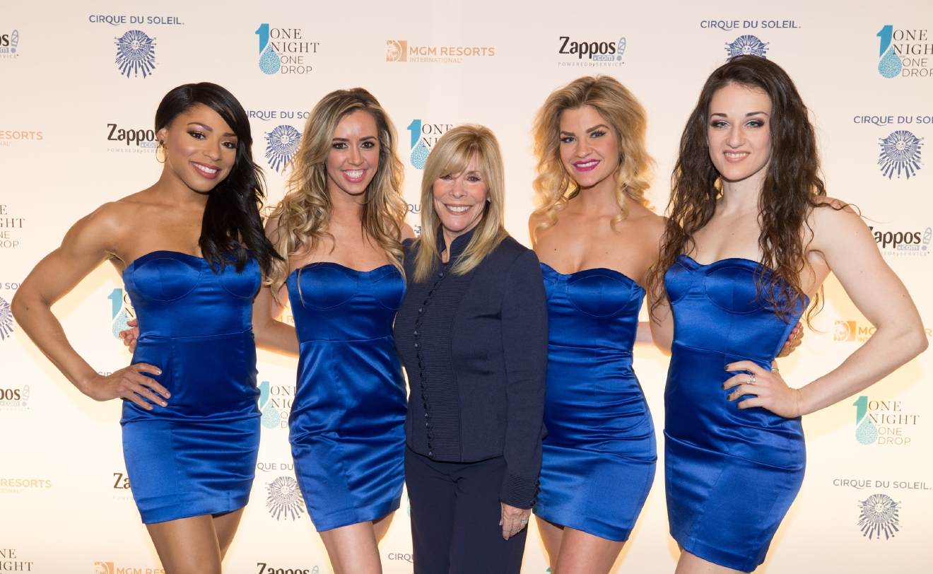Anita Mann and the girls of FANTASY at Luxor at One Night for One Drop 2017. (Photo courtesy of Erik Kabik/ErikKabik.com)