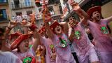 'Chupinazo' firework launches Pamplona bull racing festival