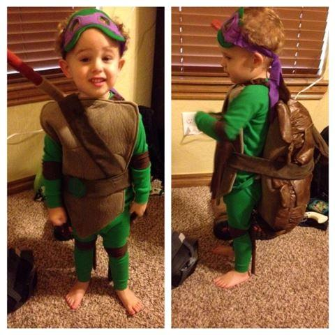 My handsome son, TMNT Donatello, in his costume I made him!
