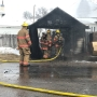 Teen 'lucky to be alive' after Friday morning garage fire