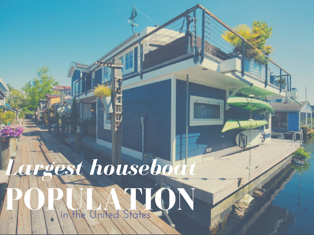 Fact #1. Largest Population of Houseboats  This might not be too surprising, Lake Union is chock full of houseboats and was made popular by the film Sleepless in Seattle, according to Mental Floss. (Image: Seattle Refined).