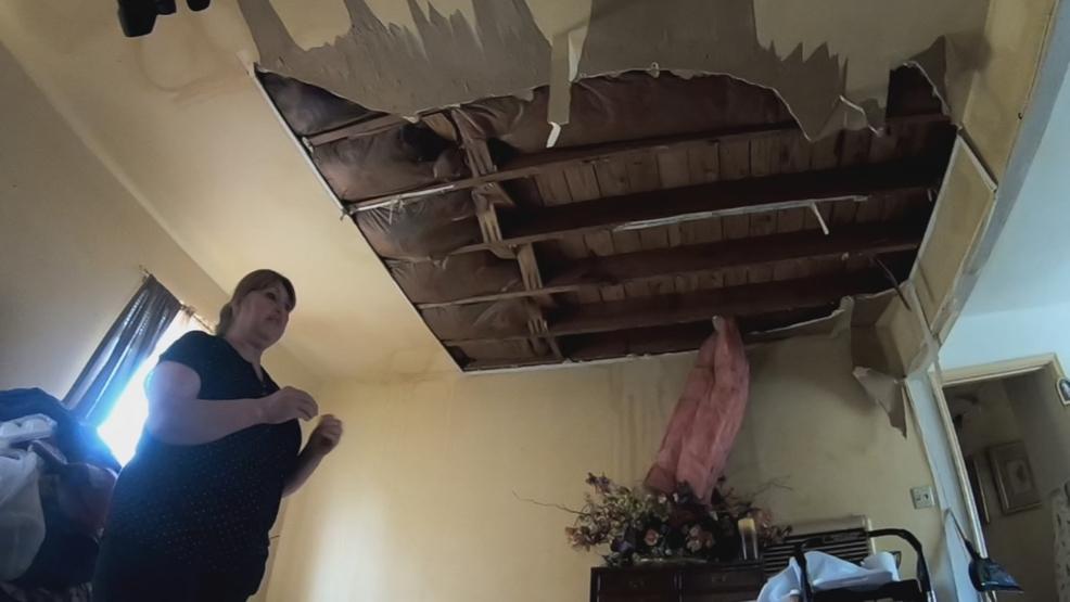 Upstairs water main break causes serious water damage to