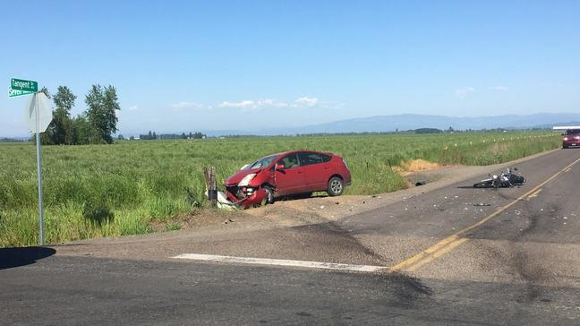 Sheriff: Motorcyclist killed in collision with Prius on rural Oregon road