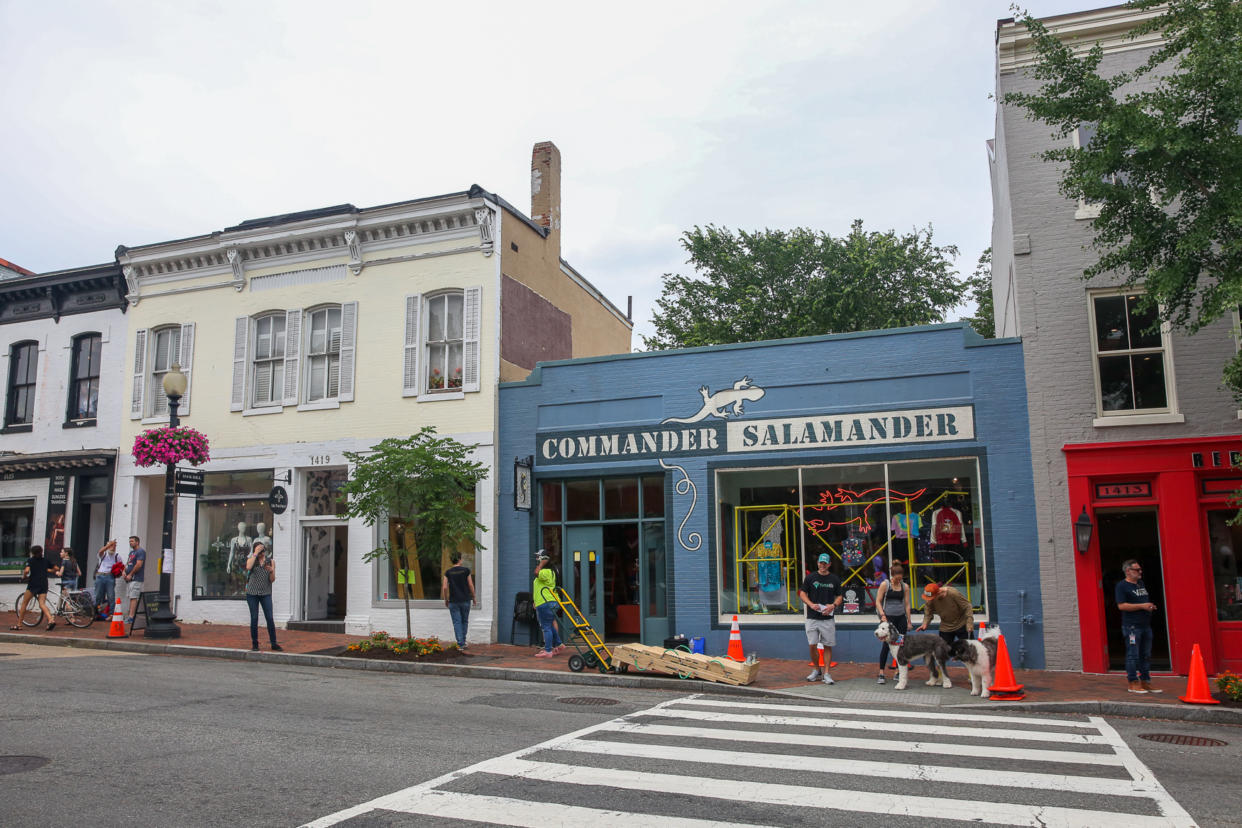 In an ironic twist of fate, Commander Salamander's former co-owner, Wendy Ezrailson, now owns the store next to the new replica of Commander Salamander, REDDzTrading. (Image: Amanda Andrade-Rhoades/ DC Refined)