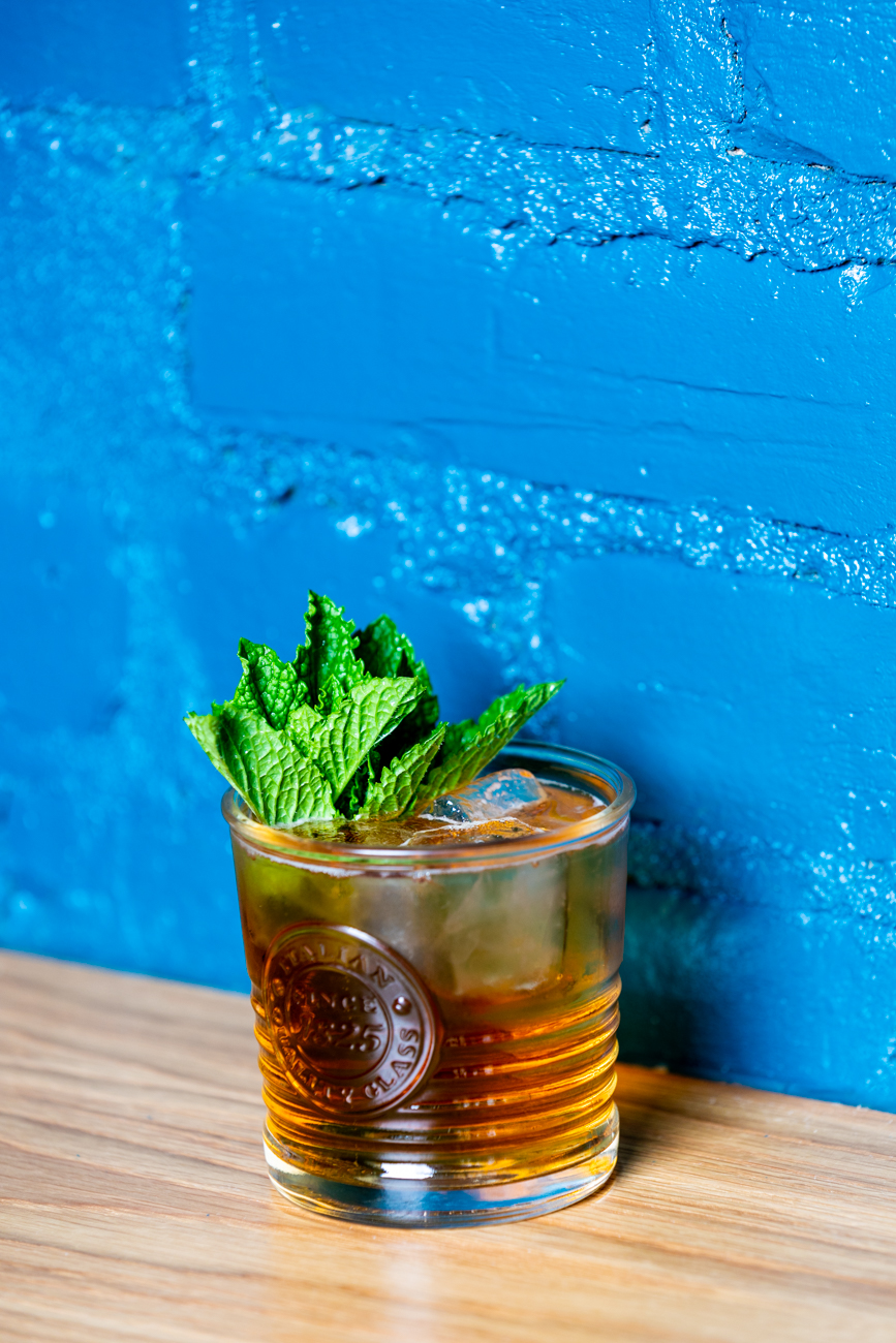Lady Luck: bourbon, Amaro, white peach, mint, and ginger ale / Image: Amy Elisabeth Spasoff // Published: 9.9.19