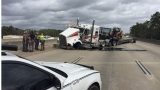 BREAKING NEWS: 18 wheeler accident kills two, injures, one, shuts down I-10 in Rose City.