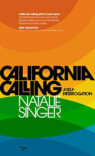 <p>California Calling: A Self-Interrogation by Natalie Singer. A Seattle Journalist, Singer is out with her memoir. California Calling is a coming-of-age story, a lyrical self-interrogation of obsession, emigration, and identity. The book opens in a courtroom on a witness stand where Singer is forced to testify in a family breakup which changes the course of her life. At sixteen, she emigrates from Montreal and heads to California where she searches for an American identity through high school pep rallies and college sex in boats and the backs of pickups, to a summer tracing a serial killer through the heart of Gold Country, to an eventual journalism career in San Francisco and the deserts of Palm Springs. (Image: Amazon){&amp;nbsp;}<br></p>