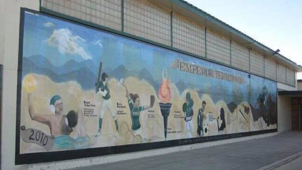 Mural controversy at Dinuba High, 2010 class gift painted