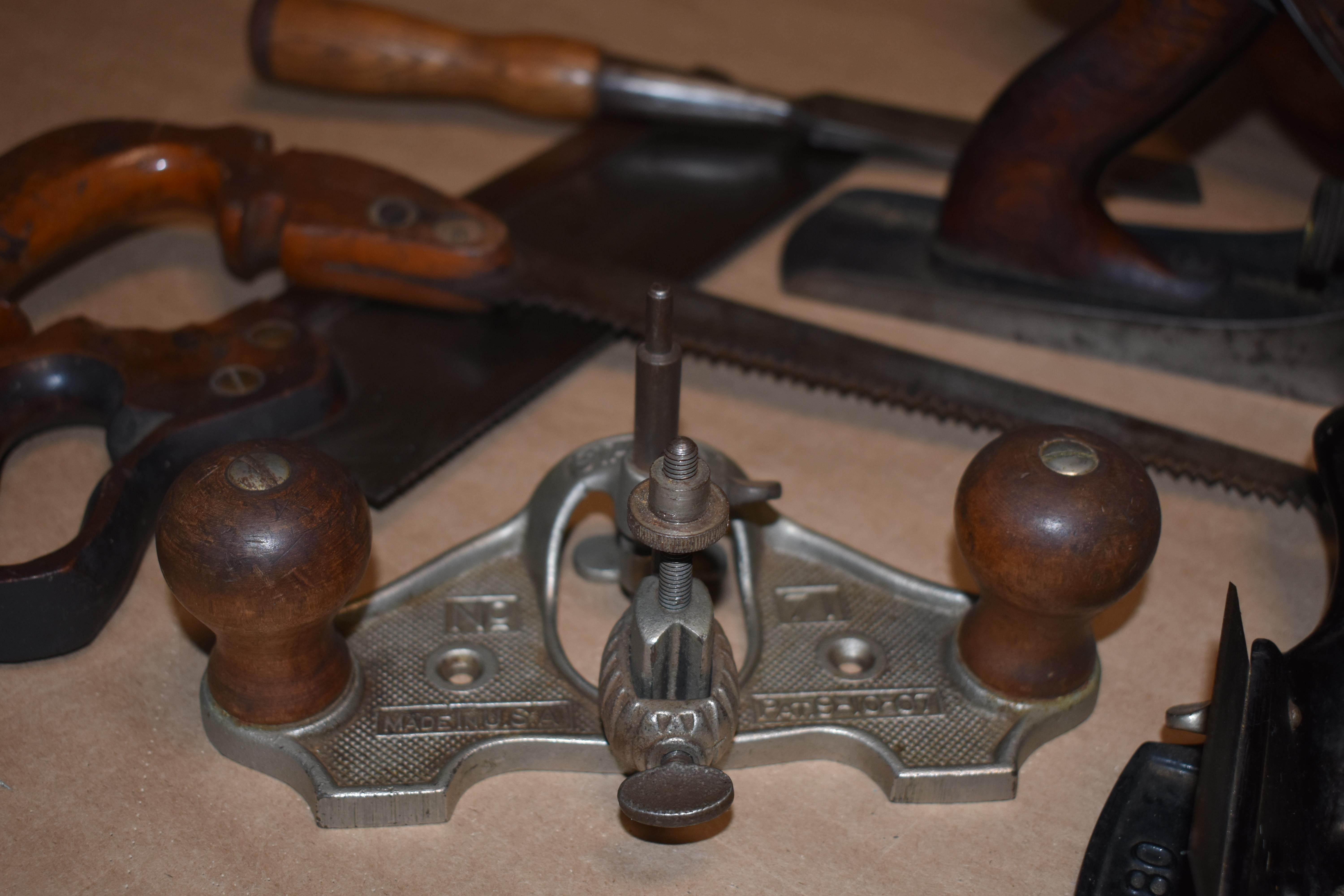 A selection of Gustav Mellquist's antique woodworking tools. Photo by Maureen Flanagan Battistella