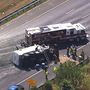 1 seriously injured after dump truck overturns on the Beltway in PG County, officials say