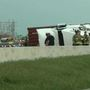 Semi rollover slows I-44 traffic in Oklahoma City