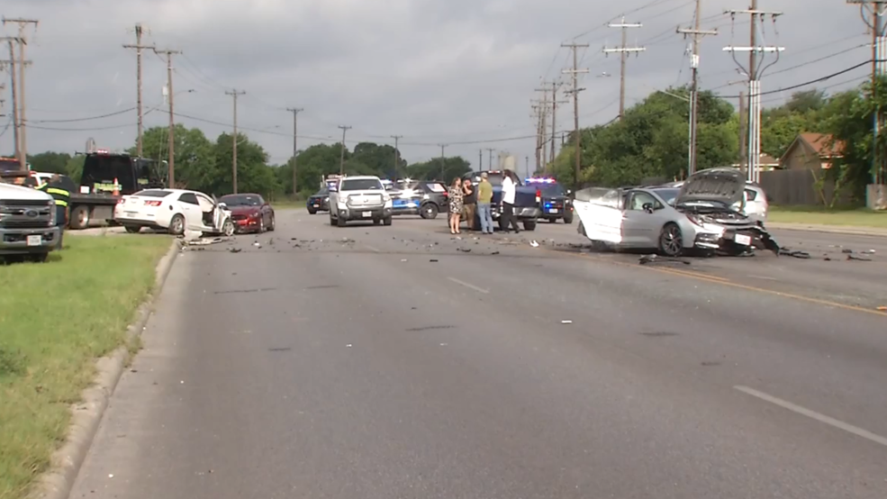 Suspect driving stolen car slams into several cars, killing one, say