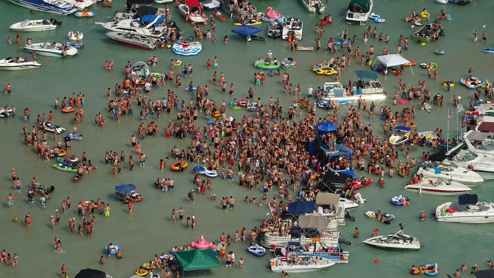 Torch Lake Sandbar listed as attainable COVID-19 publicity web site following 4th of July celebration - UpNorthLive.com thumbnail