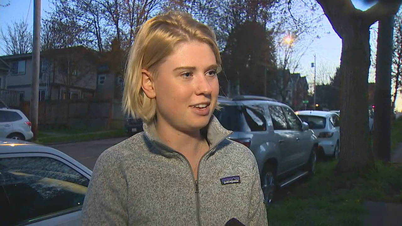 """Walked in my door and probably a minute later, I heard four or five gunshots in rapid succession,"" said neighbor Anya Milioutina. ""It will make me think twice before walking around here by myself."" (Photo: KOMO News)"
