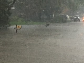 Flooding in Portage has become severe (Courtesy of Rachael Falkowski)