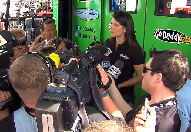 Spring Cup driver Danica Patrick speaks to the media Friday, May 3, 2013.