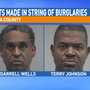 Two arrests made in string of burglaries to Gainesville businesses