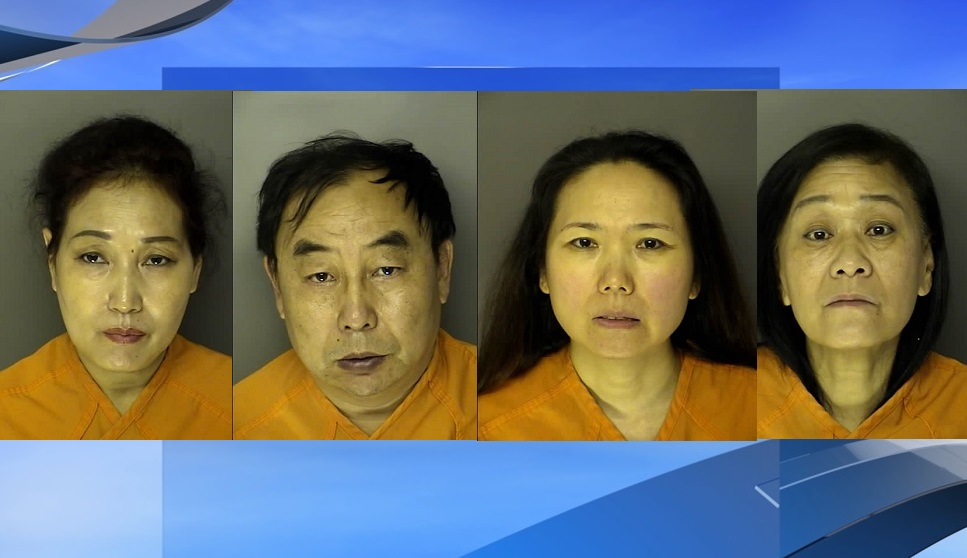 Police conducted an undercover operation at Surfside Beach massage parlors after complaints about prostitution-related activity and four people were arrested. (J. Reuben Long Detention Center. WPDE background)