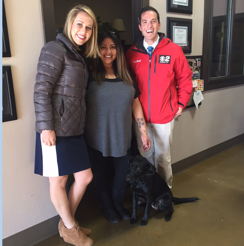 Mugshot Mondays: This week's winner is Positive Pet Training in Meridian! Bryan Levin  and Kelsey Anderson helped deliver free Dutch Bros. Coffee and KBOI mugs! Want your business to be next? Enter: http://bit.ly/1UoKo3X