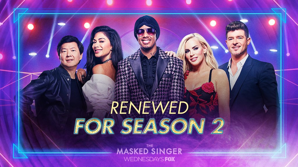 """The Masked Singer"" renewed for second season"