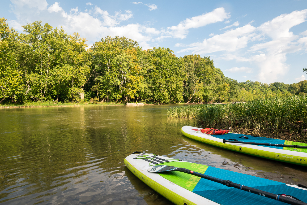 Most of the public river access stops along the Little Miami are at mellow parts of the river, where it's easy to pull off and visit local shops, breweries and more. / Image: Allen Meyer // Published: 9.7.18