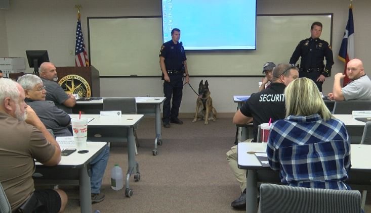 Part of Koss' duties include searching for drugs and people as well as doing demonstrations at APD's citizen academy.  (KVII, Niccole Caan)