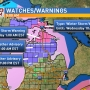 Winter storm warning, winter weather advisory issued for many counties