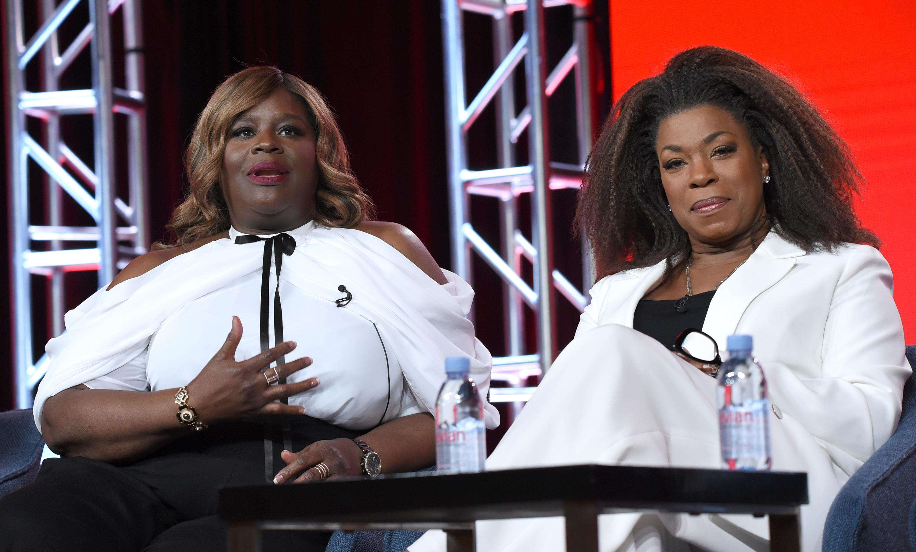 Retta, left, and Lorraine Toussaint participate in the Women of Drama panel during the NBCUniversal TCA Winter Press Tour on Tuesday, Jan. 29, 2019, in Pasadena, Calif. (Photo by Richard Shotwell/Invision/AP)