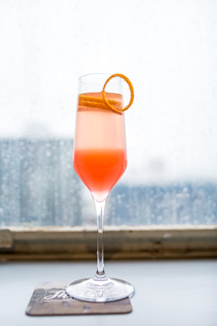 The Matinee: vodka, raspberry simple, orange, and sparkling wine / Image: Catherine Viox // Published: 7.31.19