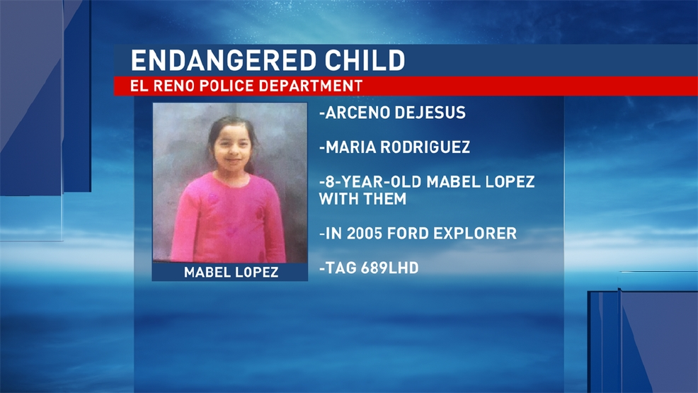 Amber Alert Issued For El Reno Child Kokh