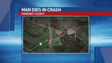 Man killed in single-vehicle crash in Somerset County