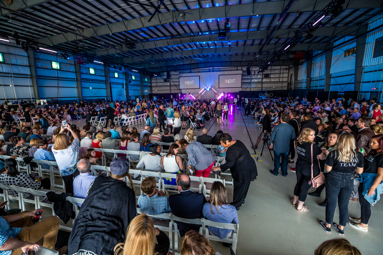 "The 2019 DAAP Fashion Show ""NEXT"" took place Friday, May 3. The models in this year's show received inspiration from a different kind of runway, as the event took place in the Waypoint Aviation Hangar in the Lunken Airport. / Image: Catherine Viox // Published: 5.4.19"