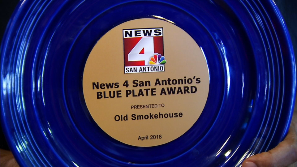 Old Smokehouse received its second Blue Plate Award (News 4 San Antonio).{ }