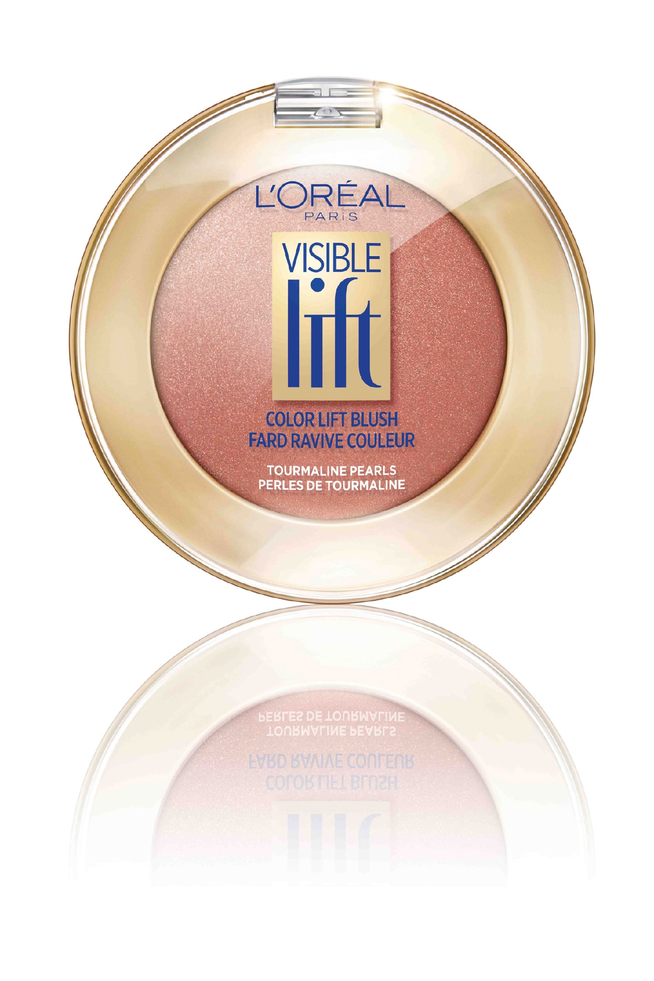 L'oreal Visible Lift Color Blush in nude ($13).  This is a super pretty/subtle blush.  When it comes to your makeup bag, drugstore beauty is, well, a beautiful thing. From the ultimate voluminous mascara to lip balms and dry shampoo, we've rounded up our favorite products that won't break the bank. (Image: Target)