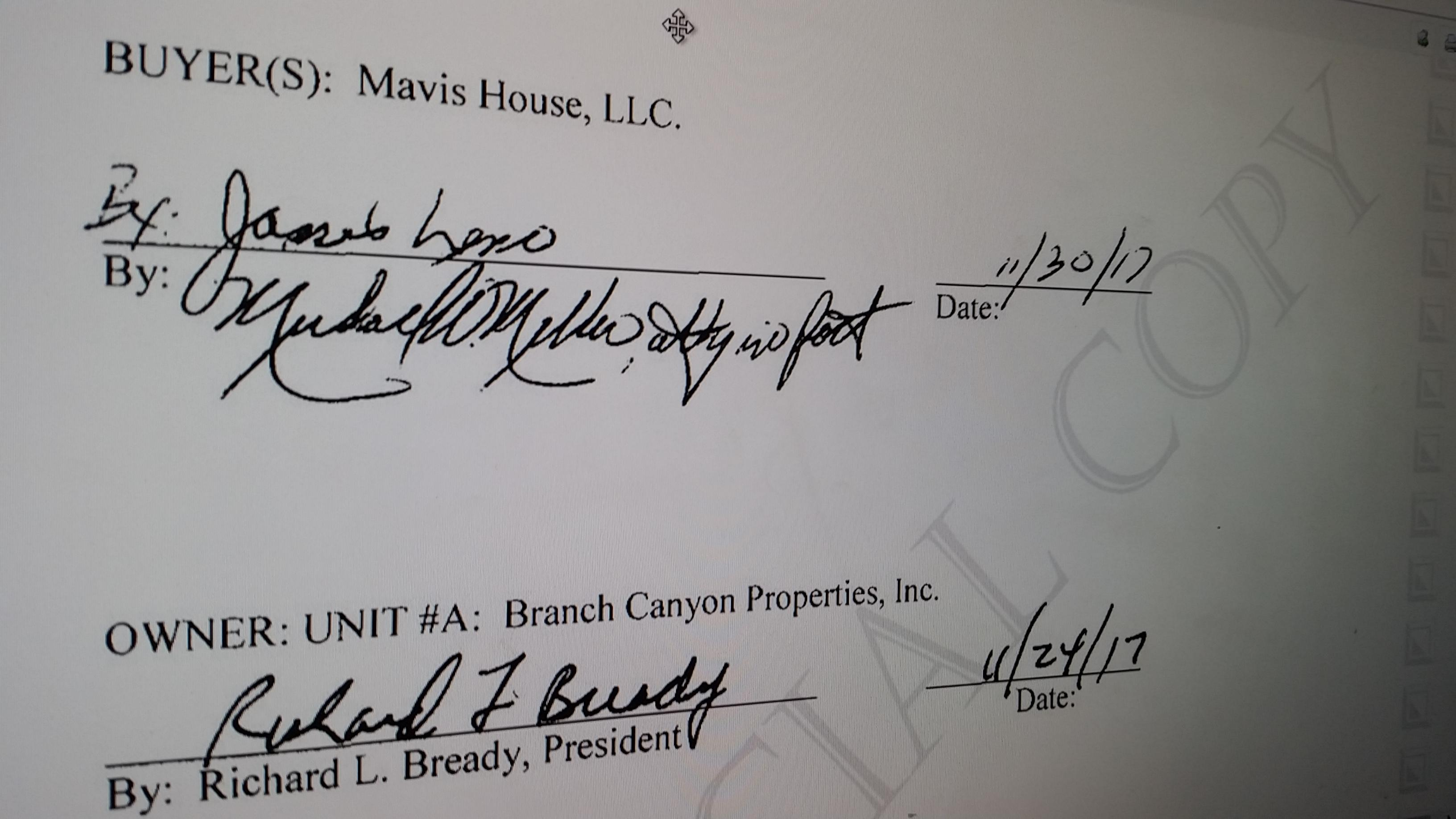 Jay Leno's signature shows the purchase of SeaFair Condo. (WJAR)<p></p>