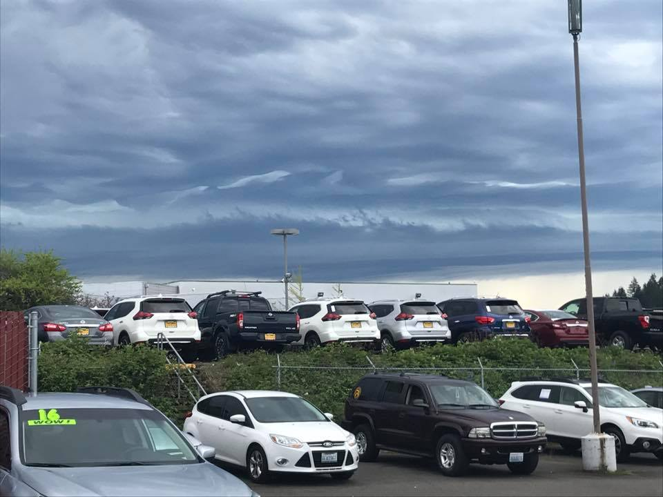 Wall of clouds in Tacoma. (Photo courtesy of Nick Van Brunt)