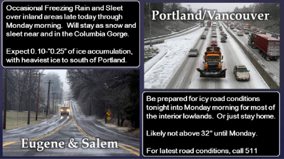 Winter weather conditions continue into Monday morning | KMTR