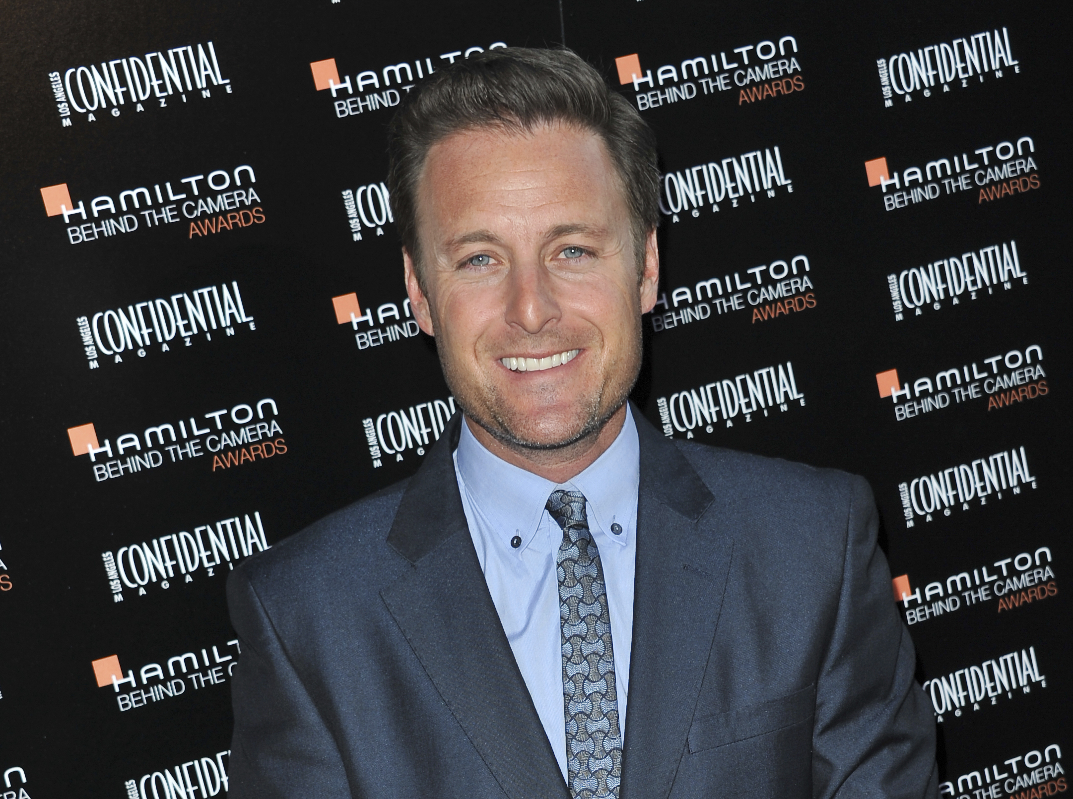 "FILE - This Oct. 28, 2012, file photo shows Chris Harrison at the Hamilton ""Behind the Camera"" Awards at the House of Blues West Hollywood, Calif. Harrison tells ABC News in a statement on June 13, 2017, that he's sorry for ""any inconvenience and disappointment"" for the cast, crew and fans of the ABC reality show after producers suspended production amid allegations of misconduct on set in Mexico. (Photo by Richard Shotwell/Invision/AP, File)"