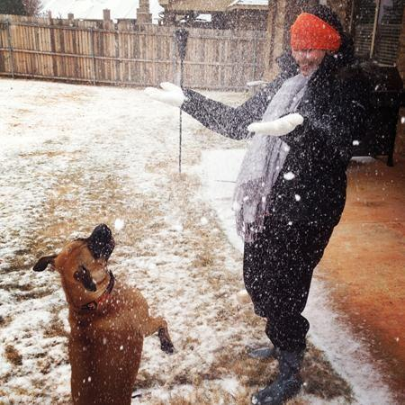 Snow friends in Oklahoma City.