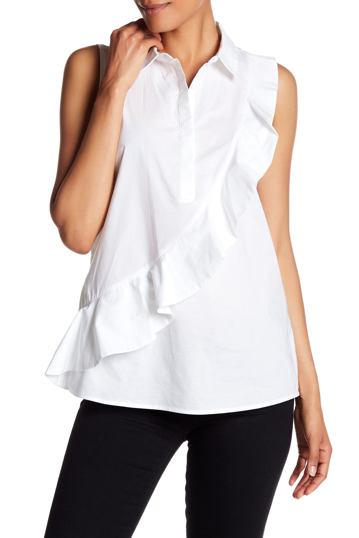Pleione Ruffle Poplin Shirt ($32.97). It's time to celebrate Momma.  Here is our Nordie's gift guide for items under $50! (Image: Nordstrom)