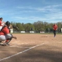 Doorley throws out first pitch at Strike Out Cancer softball game