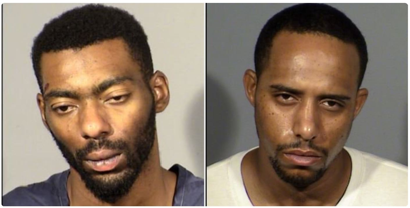John Jordan and Antonio Diggs were taken into custody after committing a total of seven cell phone store robberies. (LVMPD)